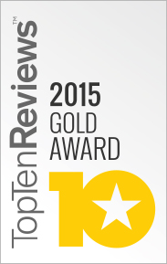 Top Ten Reviews Gold Award for Best Piano Software 2015